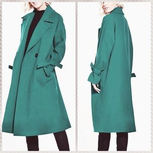 NWT ASOS green winter trench coat ($248 retail!)